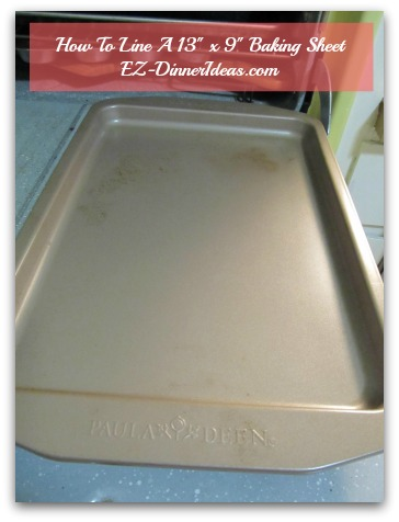 How To Line Baking Pan With Foil - A regular 13