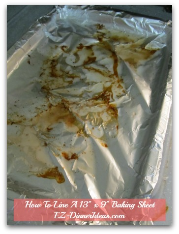 How To Line Baking Pan With Foil - After roasting lamb chops under the broiler