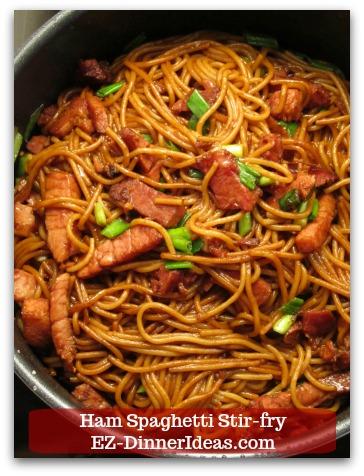 Ham Spaghetti Stir-Fry