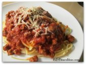 Pasta Recipes - Spaghetti with Meat Sauce