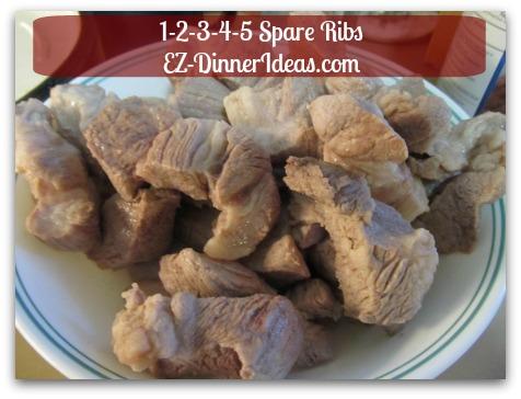 Chinese Pork Rib Recipe | 1-2-3-4-5 Spare Ribs - Drain water