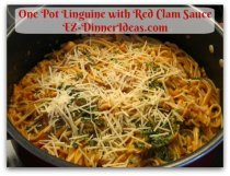 One Pot Linguine with Red Clam Sauce