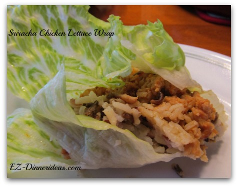 Sriracha Chicken Lettuce Wrap with Wild Rice