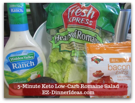 Romaine Lettuce Salad Recipe - Needs 4 ingredients and 5 minutes only.
