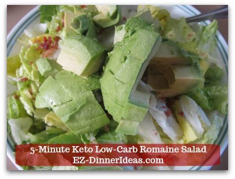 Romaine Lettuce Salad Recipe - Then, add diced avocado.