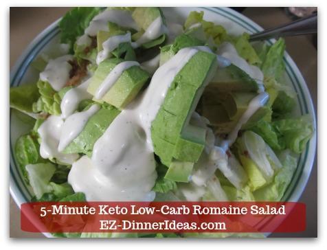 Romaine Lettuce Salad Recipe - Lastly, add salad dressing.
