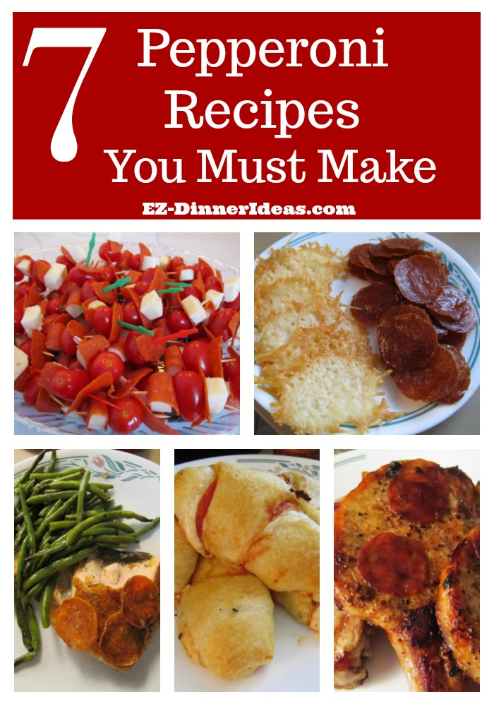 7 Pepperoni Recipes you must make because this simple ingredient is not only for pizza, but also many other delicious meal ideas.  It is a great low carb snack, too.