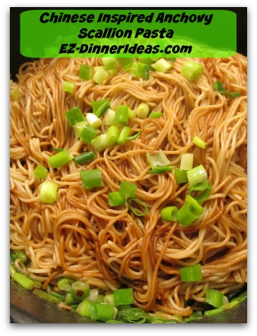 Chinese Inspired Anchovy Scallion Pasta