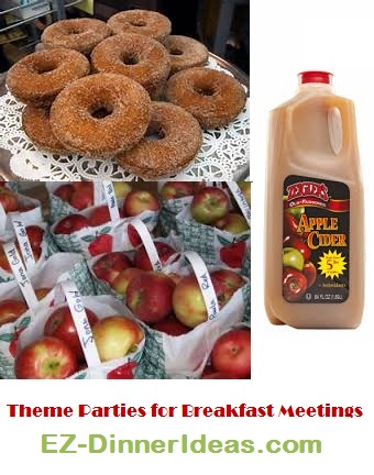 Apple Theme Parties for Breakfast Meeting