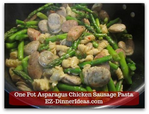 Chicken Sausage Recipe | One Pot Asparagus Chicken Sausage Pasta - Salt and pepper to taste.
