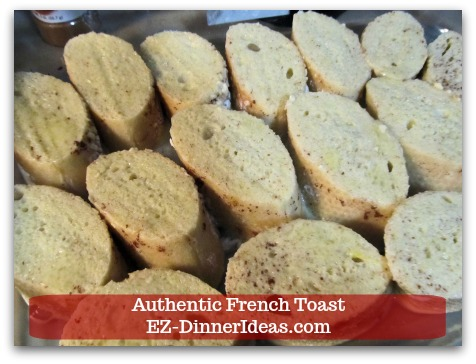 Idea Breakfast | Authentic French Toast - Immediately turn bread over to the other side to soak up the rest of the batter.
