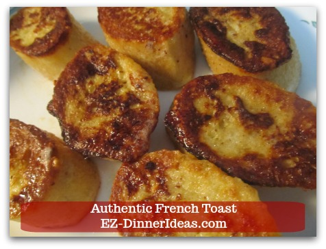 Idea Breakfast | Authentic French Toast - Transfer to plate and continue to cook until all French toast is cooked.