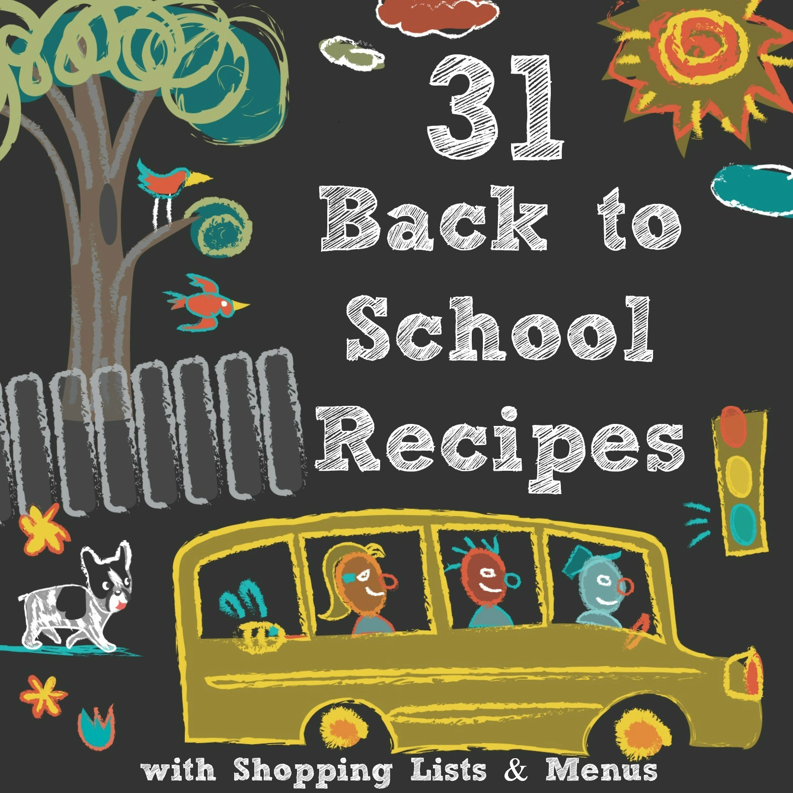 FREE E-Book for 31 Back to School Recipes with Menus and Shopping Lists - Your weekly shopping list is purposefully arranged by grocery store aisle. It makes your trip short and sweet.