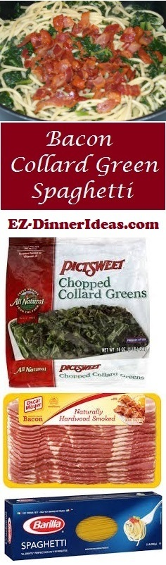 Bacon Collard Green Spaghetti