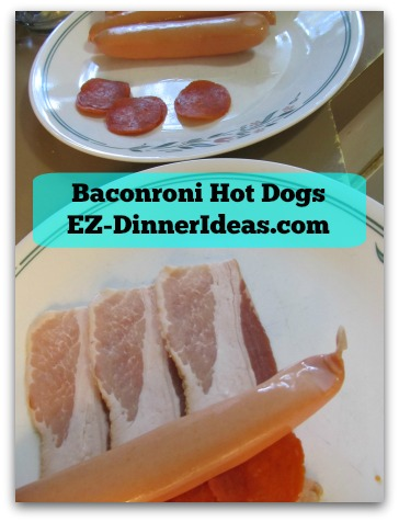 Baconroni Hot Dogs - Get your assembly line ready