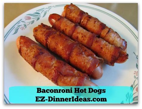 Baconroni Hot Dogs