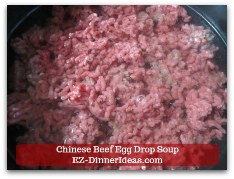 Easy Ground Beef Meal | Chinese Beef Egg Drop Soup - Add 4 cups of water.