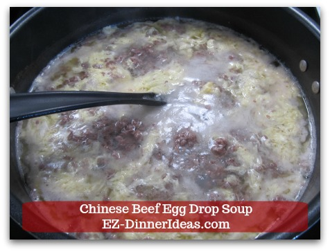 Easy Ground Beef Meal | Chinese Beef Egg Drop Soup - Everything is cooked through and you can turn off the heat at this stage.
