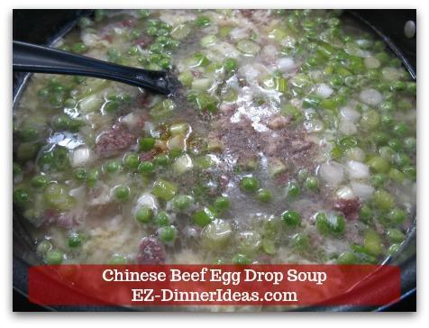 Easy Ground Beef Meal | Chinese Beef Egg Drop Soup - Add seasonings, salt and pepper to taste.