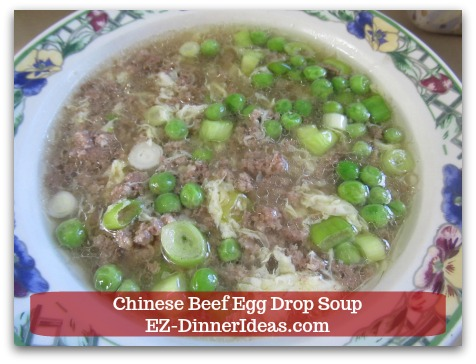 Easy Ground Beef Meal | Chinese Beef Egg Drop Soup - ENJOY!
