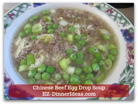Easy Ground Beef Meal - Chinese Beef Egg Drop Soup Turning A Traditional Chinese Quick Soup Into A One-Pot Low Carb Meal