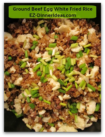 Ground Beef Egg White Fried Rice