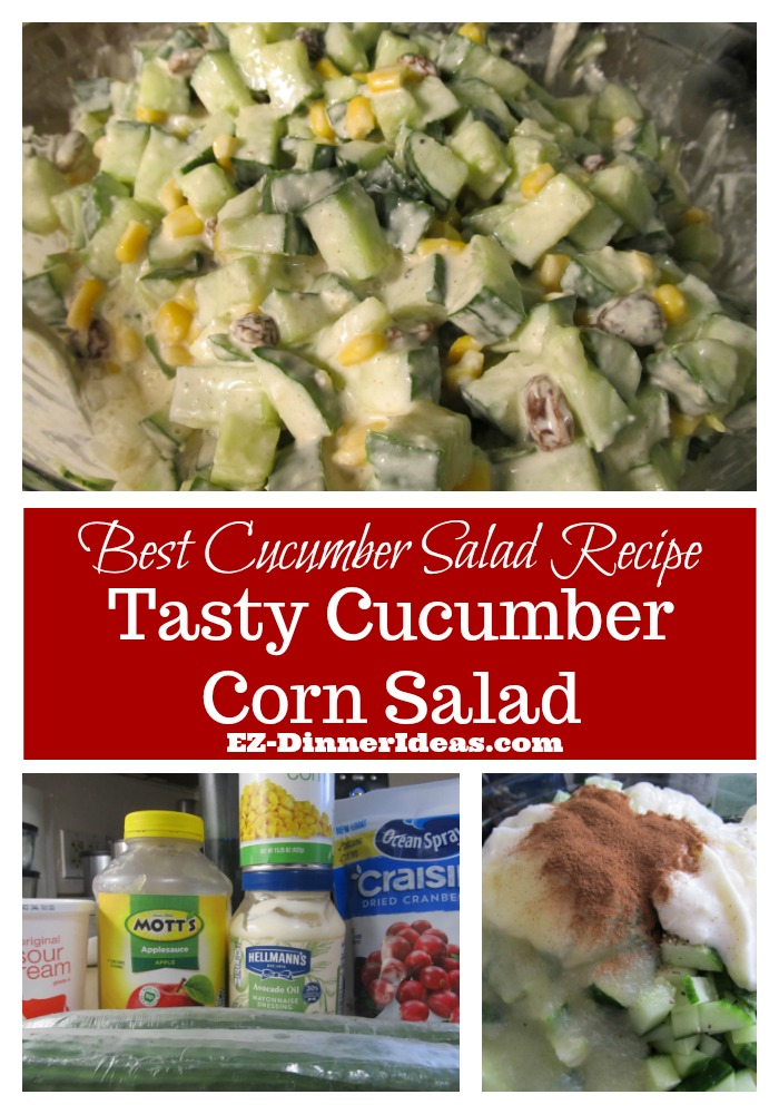 It's the best cucumber salad recipe because it is so tasty and easy to make.  It's always the most popular dish everyone goes after in any pot luck meal.