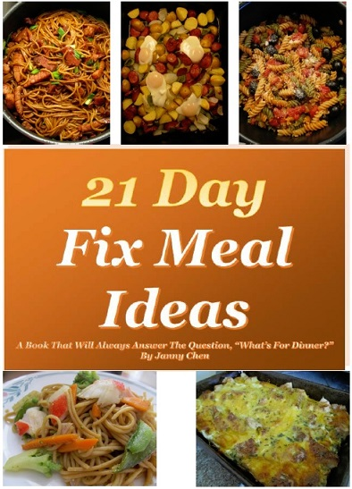 21 Day Fix Meal Ideas - A book that will always answer the question,