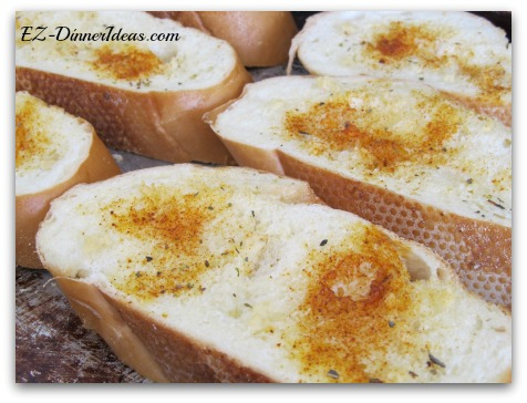 BOP garlic bread - the herb and spice makes you look at garlic bread differently.