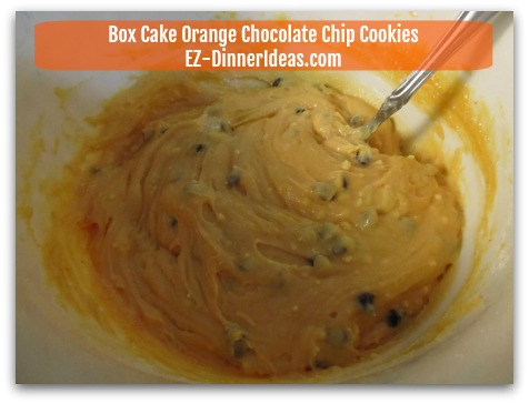 Box Cake Orange Chocolate Chip Cookies - Stir in chocolate morsels