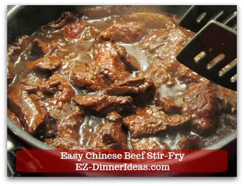 Beef Dinner Recipe   Easy Chinese Beef Stir-Fry - Cook meat at high heat with sauce and seasonings