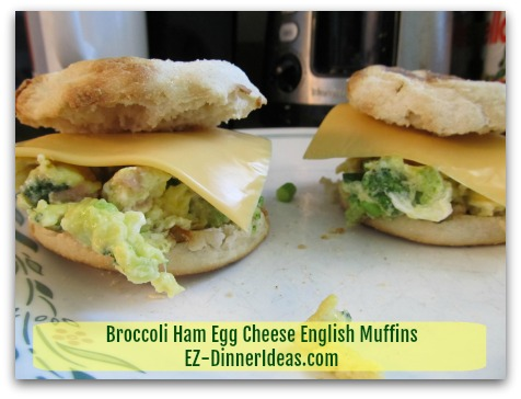 Broccoli Ham Egg Cheese English Muffins Meal On The Go Can Be Very Satisfying