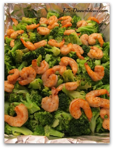 One-Pan Broccoli and Shrimp