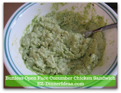 Easy No Cook Snack | Bunless Open Face Cucumber Chicken Sandwich - Salt and pepper to taste cream cheese mixture