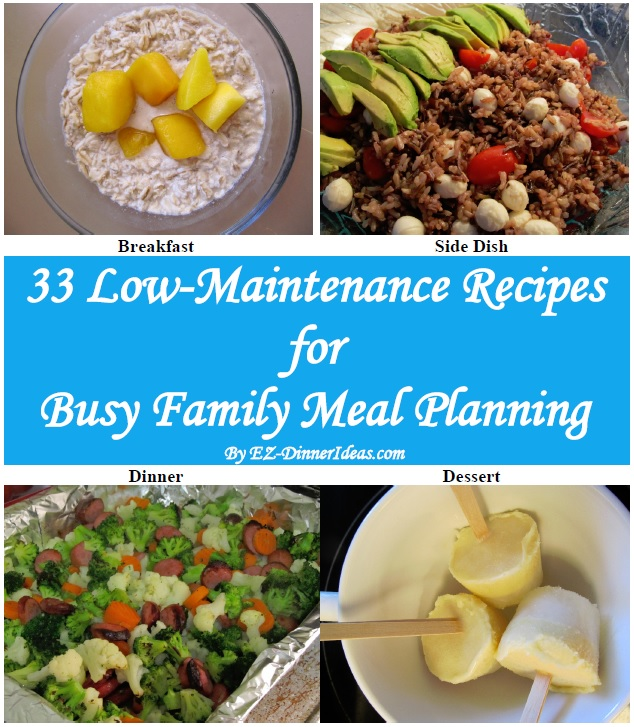 33 Awesome Recipes For Busy Family Meal Planning