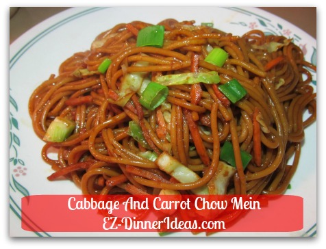 Cabbage And Carrot Chow Mein - Mmmmm....doesn't it look like from the take-out?