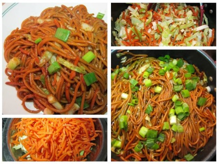 Cabbage And Carrot Chow Mein