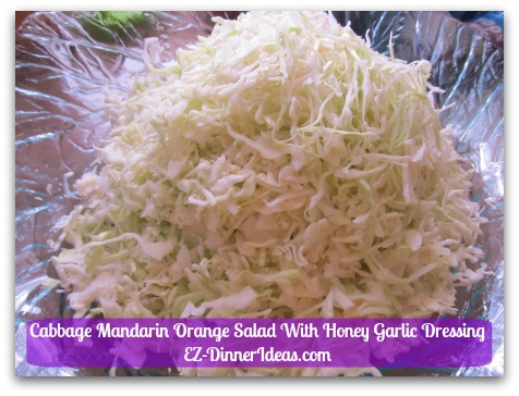 Cabbage Mandarin Orange Salad With Honey Garlic Dressing - Before adding the dressing, it may look a lot