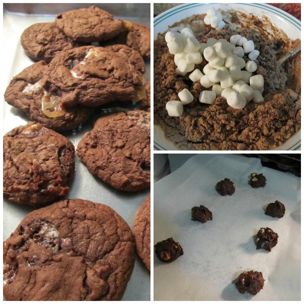 Cake Mix Chocolate Marshmallow Cookies