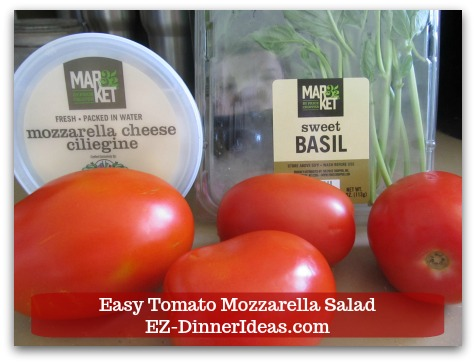 Caprese Salad Recipe   Easy Tomato Mozzarella Salad - 3 easy fresh ingredients.  Make sure to check out the Chef Notes to find out more ways to switch it up.