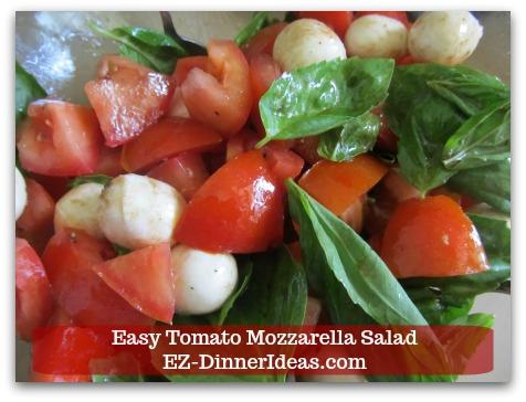 Caprese Salad Recipe | Easy Tomato Mozzarella Salad - Toss to coat and ENJOY!