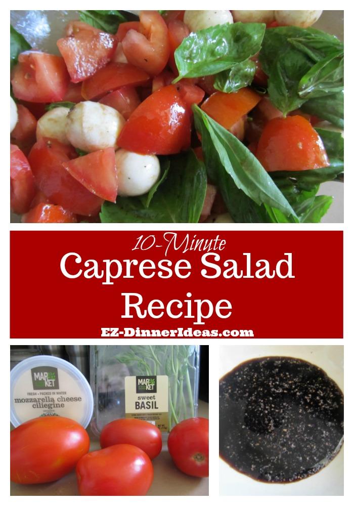 10-Minute Caprese Salad Recipe | Easy Tomato Mozzarella Salad