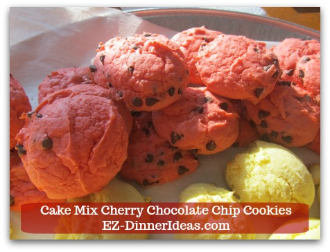 Cookie Recipe Using Cake Mix | Cake Mix Cherry Chocolate Chip Cookies - Let cookies cool at room temperature.