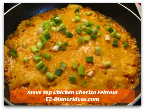 Stove Top Chicken Chorizo Frittata - Are you ready to make this delicious meal?
