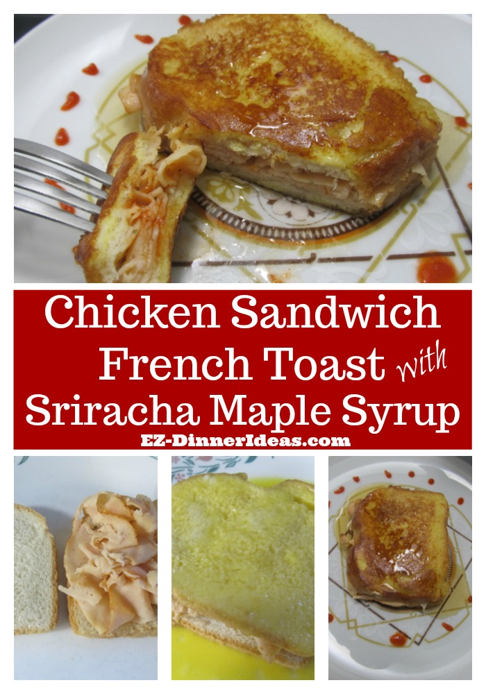 Savory French toast recipe is a delicious, quick and easy way for any meal.  Spiced up with some Sriracha sauce, it makes this east-meet-west recipe irresistible.