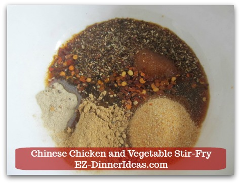 Chicken Stir-Fry Recipe | Chinese Chicken and Vegetable Stir-Fry - Stir in soy sauce and extra virgin olive oil.