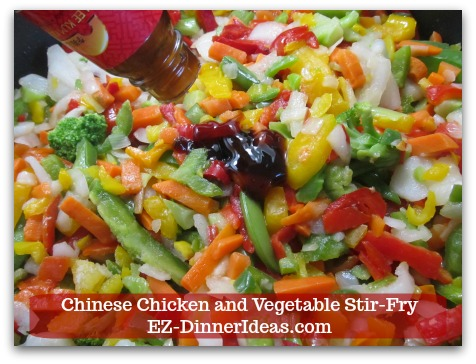 Chicken Stir-Fry Recipe | Chinese Chicken and Vegetable Stir-Fry - When vegetables are warm through, add oyster sauce, salt and pepper to taste.