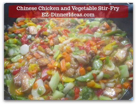 Chicken Stir-Fry Recipe | Chinese Chicken and Vegetable Stir-Fry - Stir in chicken.