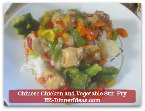 Chicken Stir-Fry Recipe | Chinese Chicken and Vegetable Stir-Fry - Serve it along with steamed white rice and ENJOY!