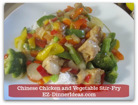 "Chicken stir-fry recipe is a great restaurant remake.  Doing a ""take-out"" at home is super easy."